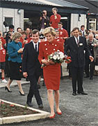 HRH the Princess of Wales opening the relocated HQ building