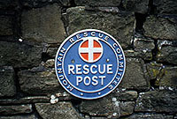 Mountain rescue post plaque